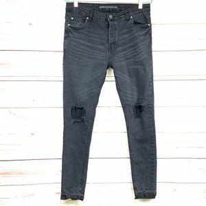 BRAVE SOUL black distressed Jeans 34R
